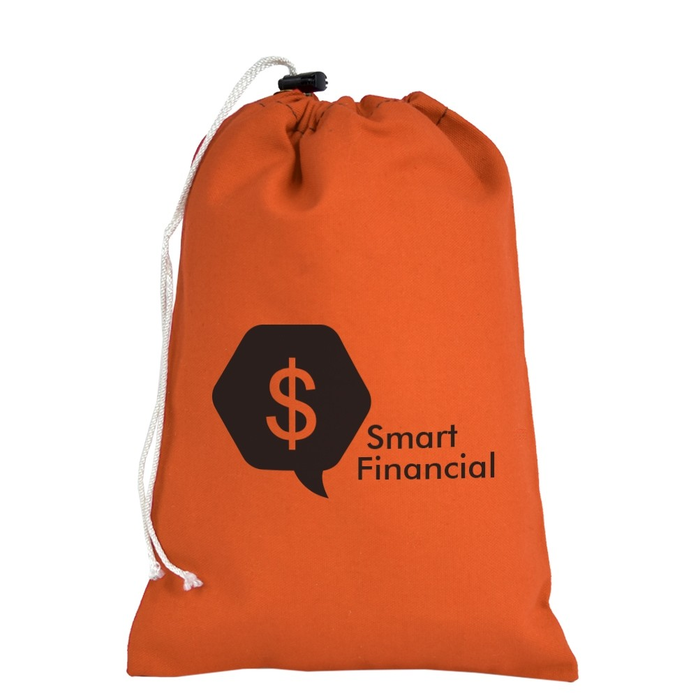 7W x 11H Canvas Drawstring Bag - Made to Order