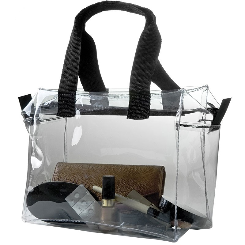 10W x 8H x 5D Gusseted Clear Zipper Bag with Handles - Made to Order