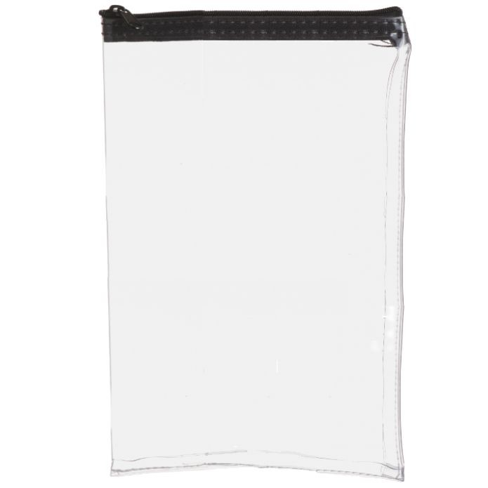 8W x 12H Clear Vinyl Vertical Zipper Bag - Made to Order