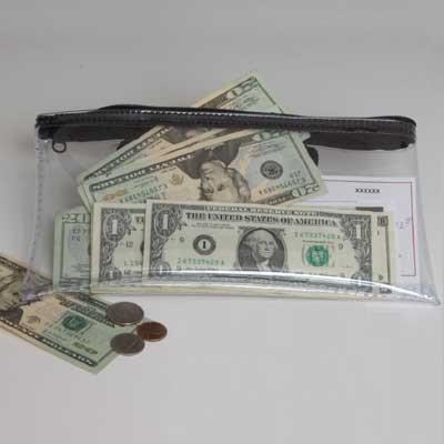Zipper Bag-10-1/2x5-1/2-Clear Vinyl