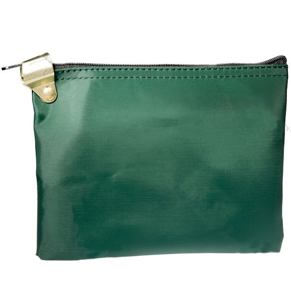 8W x 5-1/2H Forest Green Lockable Medication Bag