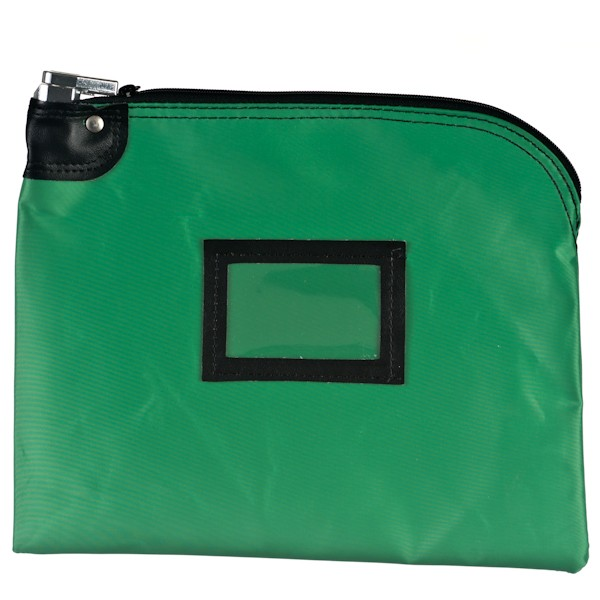 Locking Bag - 12W x 9H - Kelly Green Laminated Nylon