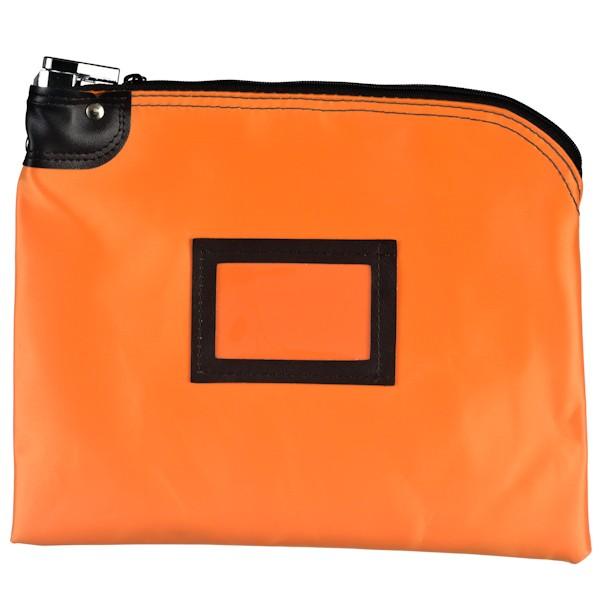 Locking Bag - 12W x 9H - Orange Laminated Nylon