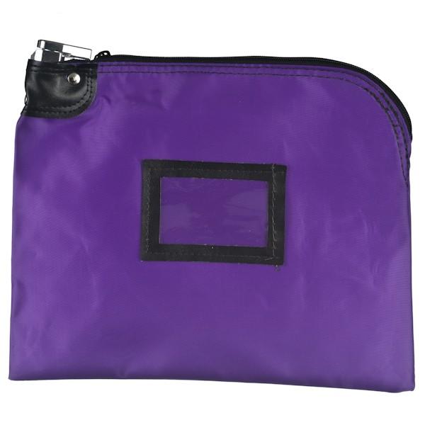 Locking Bag - 12W x 9H - Purple Laminated Nylon