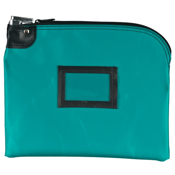 Locking Bag - 12W x 9H - Teal Laminated Nylon