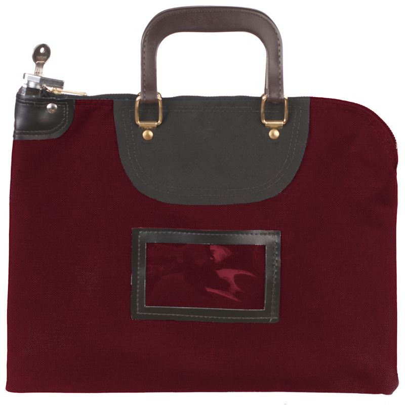 Burgundy Fire Resistant Locking Bag - 15W x 11H