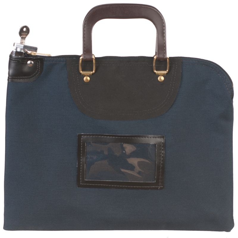 Navy Blue Fire Resistant Locking Bag - 15W x 11H