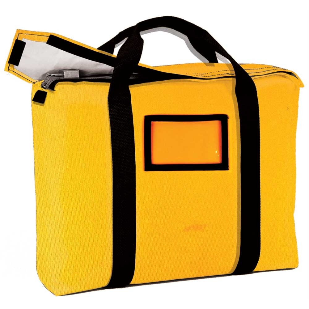 Gold 1000D Nylon 18x14x4 Fire-Resistant Pad Locking Briefcase