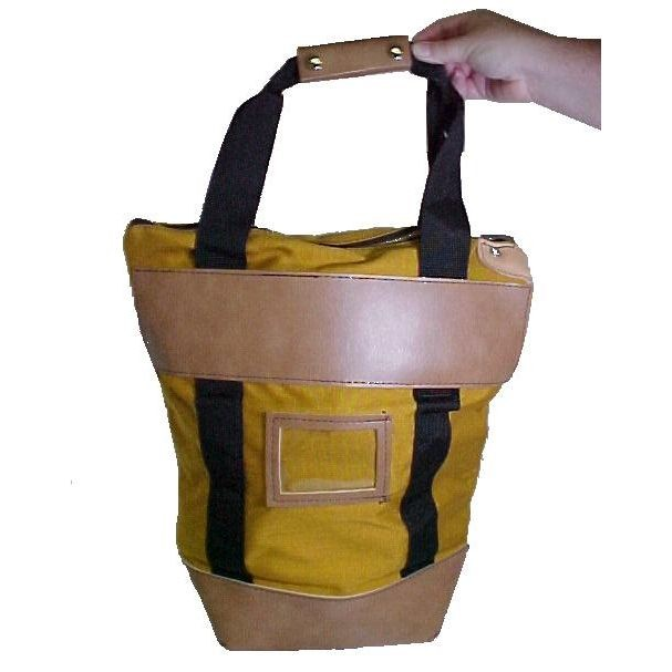 9W x 16H x 7D (16W at top) Courier Bags - Gold - Stock
