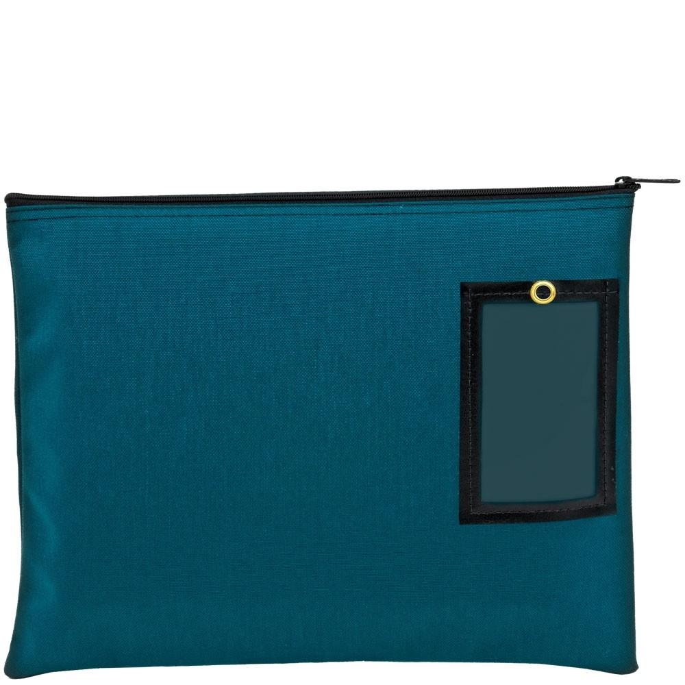 Teal 1000D Nylon Zipper Bags - 14W x 11H