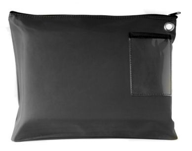 Black 14Wx11H Large Zipper Bag