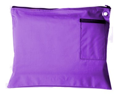 Purple 14Wx11H Large Zipper Bag