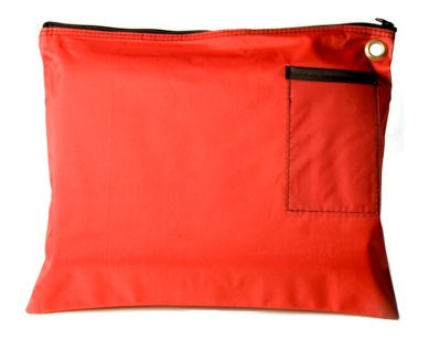 Red 14Wx11H Large Zipper Bag