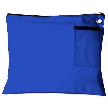 Royal Blue 14Wx11H Large Zipper Bag