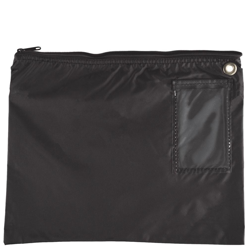 Black 200D Nylon Zipper Bags - 14W x 11H - Ready-to-Ship