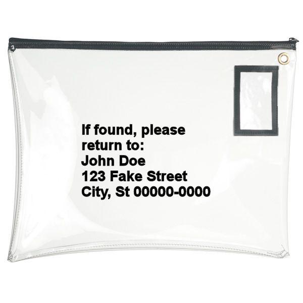 Clear Vinyl 22Wx16H Large Zipper Bag - Imprinted