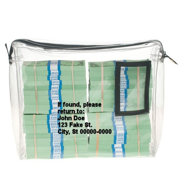 14W x 11H x 3D Clear Vinyl Bag - Made to Order