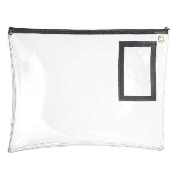 14W x 11H Clear Vinyl Large Zipper Bag - Stock