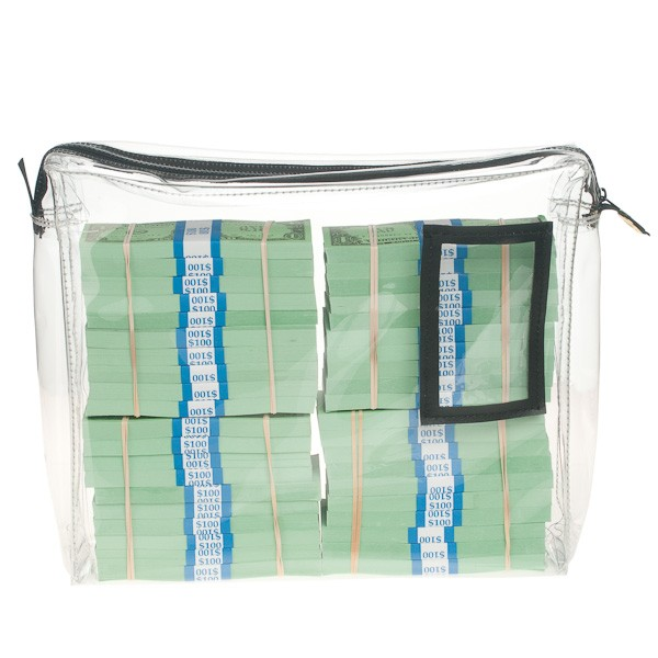 Gussetted 14Wx11Hx3D Clear Vinyl Zipper Bag