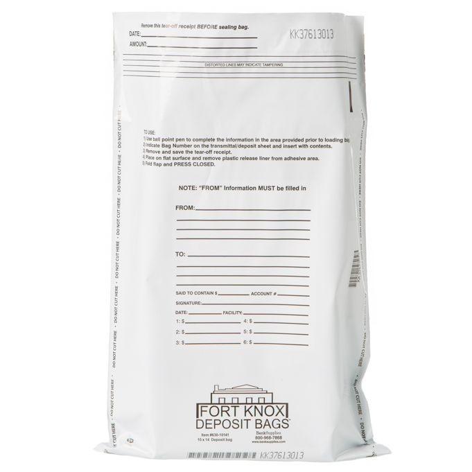 White Deposit Bags - 10W x 14H - 100/Box