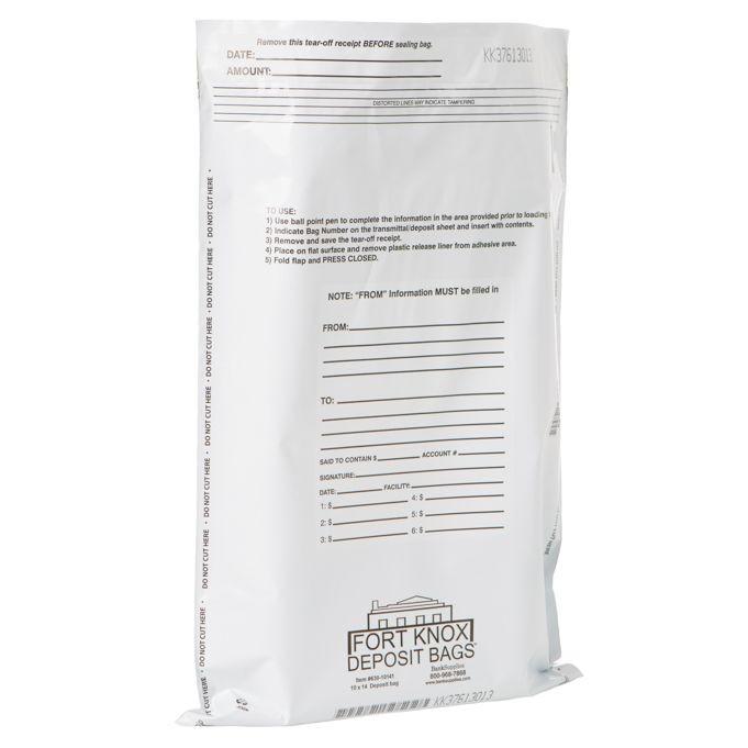 White Deposit Bags - 10W x 14H - 500/Case