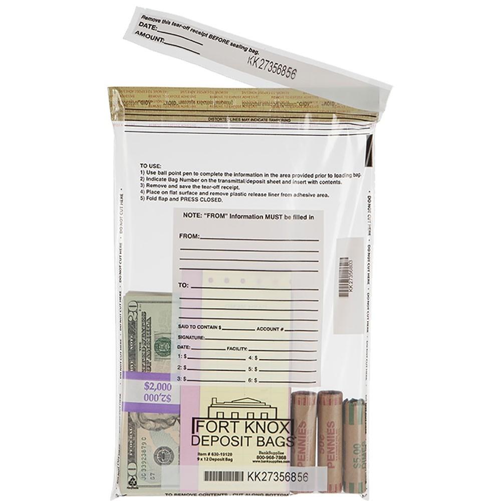 10W x 14H Clear Deposit Bags - Case of 500