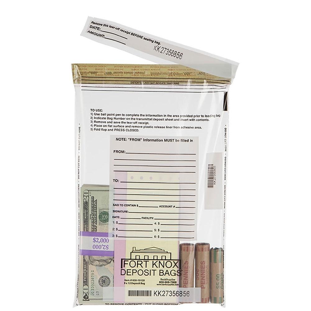 10W x 14H Clear Deposit Bags