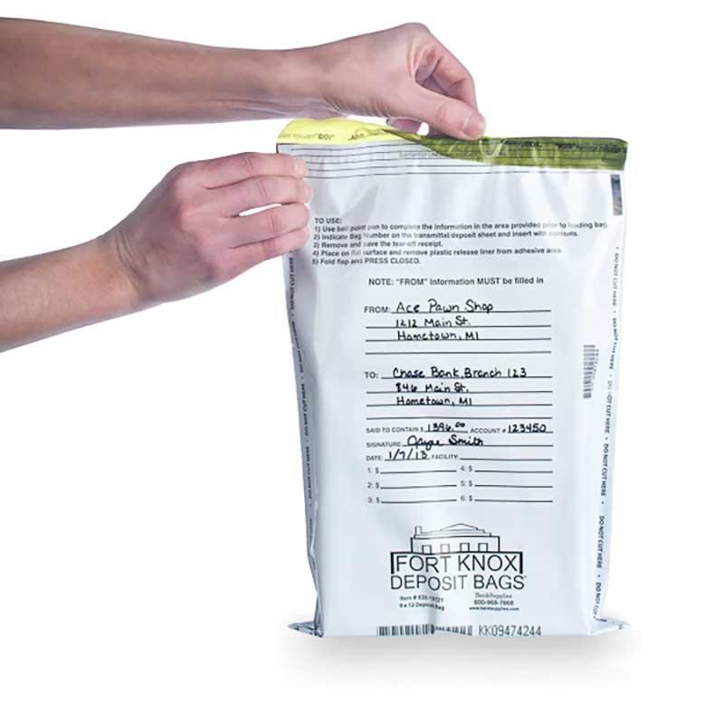 White Deposit Bags - 9W x 12H - 100/Box