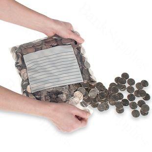 9-1/2W x 9H x 2D Easy Pour Coin Bags - 1000/case