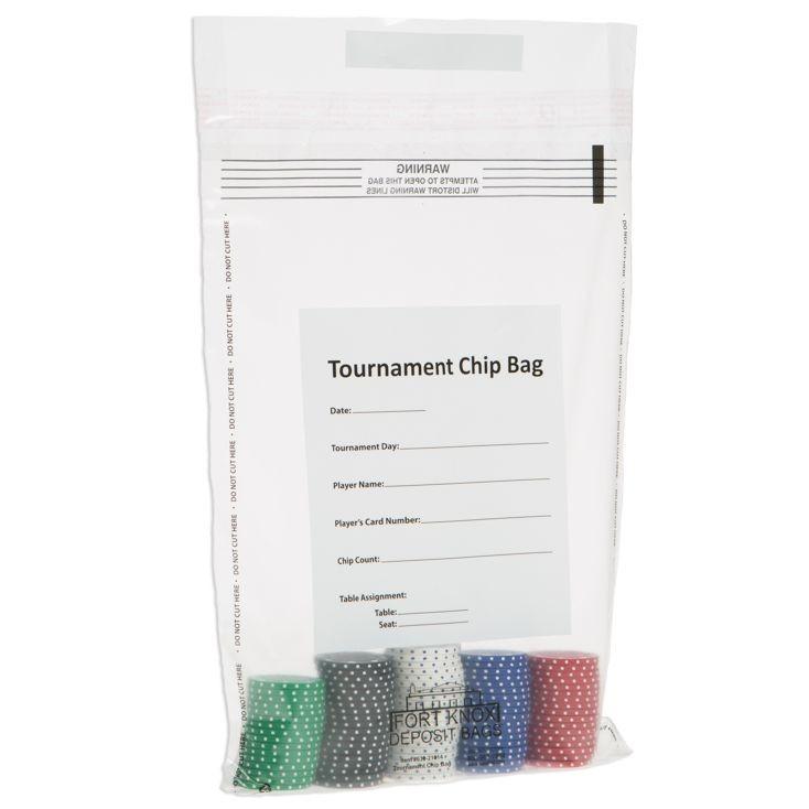 10W x 14H Tournament Chip Bags - Case of 500