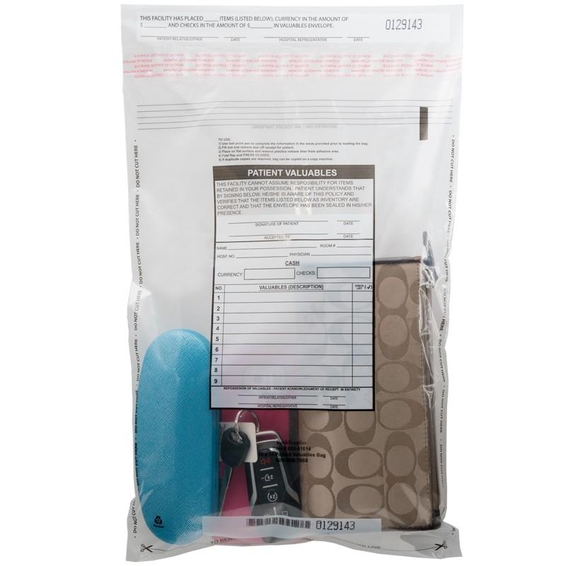 Patient Valuables Bag, 10W x 14H