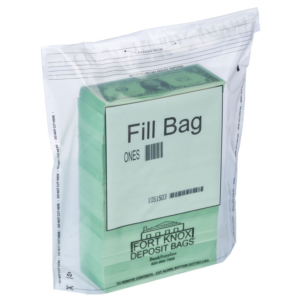 Currency Fill Bags - $1 Denomination - Case of 500