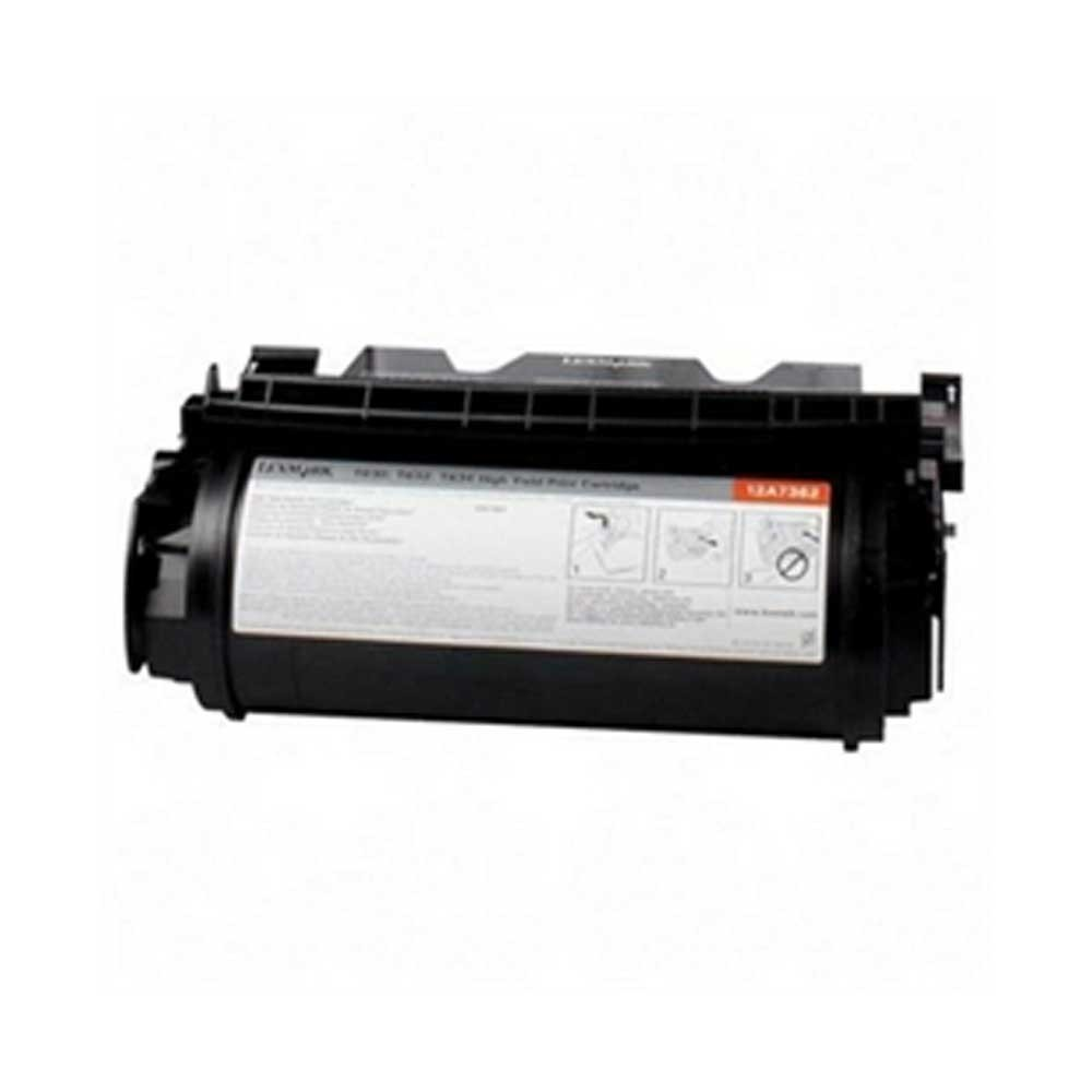 Lexmark Toner Cartridge - Black - Compatible - OEM 12A7362