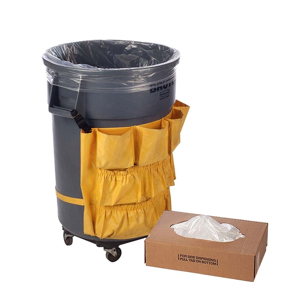 23W x 46H x 17D - Clear Trash Can Liner - 40-45 Gallon