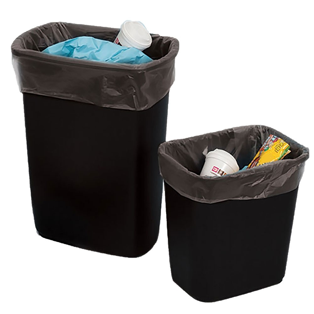 24W x 33H - Clear Trash Can Liner - 12-16 Gallon