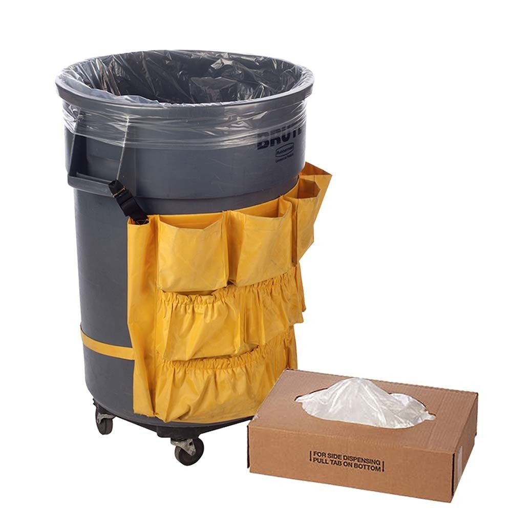 36W x 60H -Clear Trash Can Liner - 55 Gallon