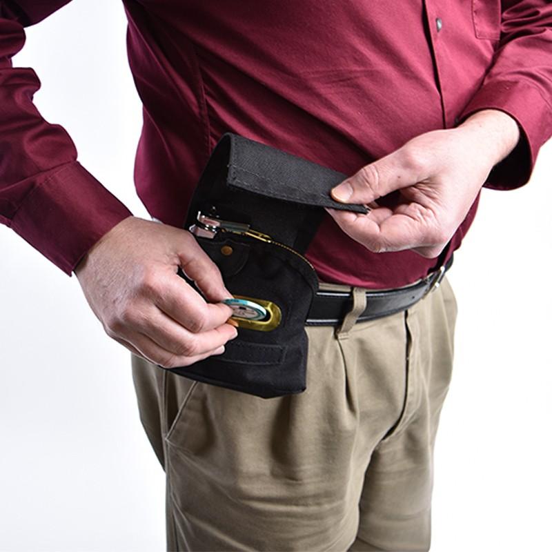 5W x 5H Security Tip Bag, Black 1000D Nylon
