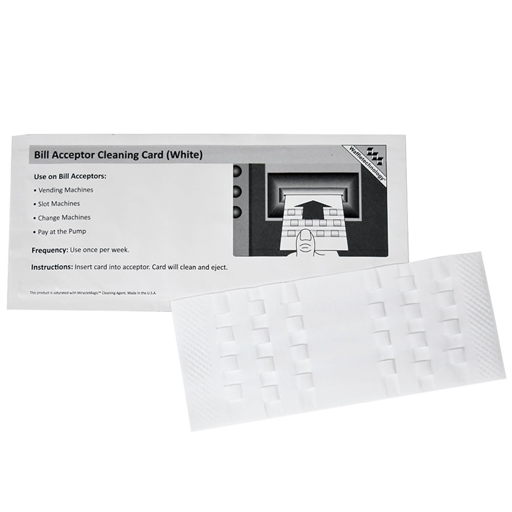 Bill Validator Cleaning Card - Waffletechnology®, 15/Bx