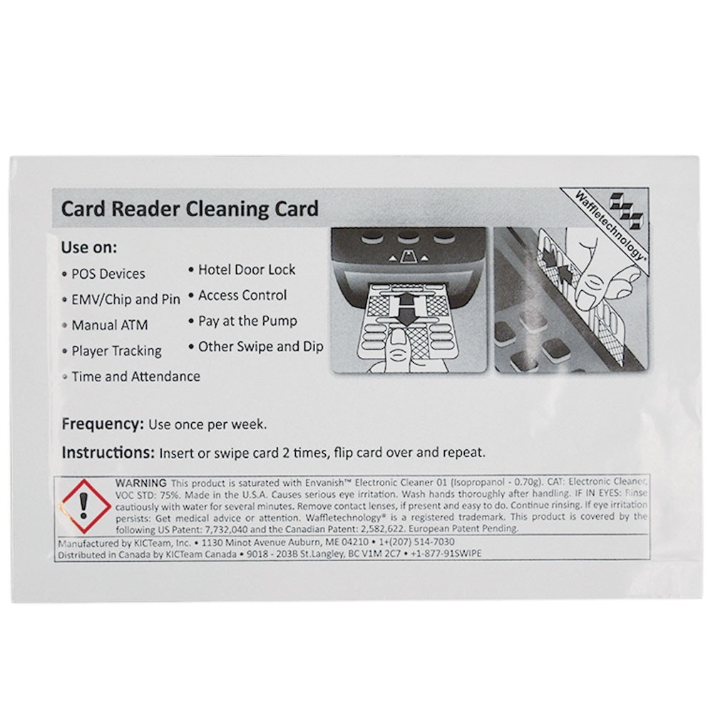 POS Cleaning Card - SmartCard with Waffletechnology®