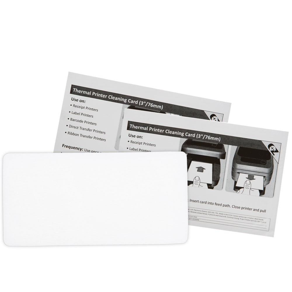 Thermal Printer Cleaning Card 3in x 6in (76.2mm x 152.4mm)