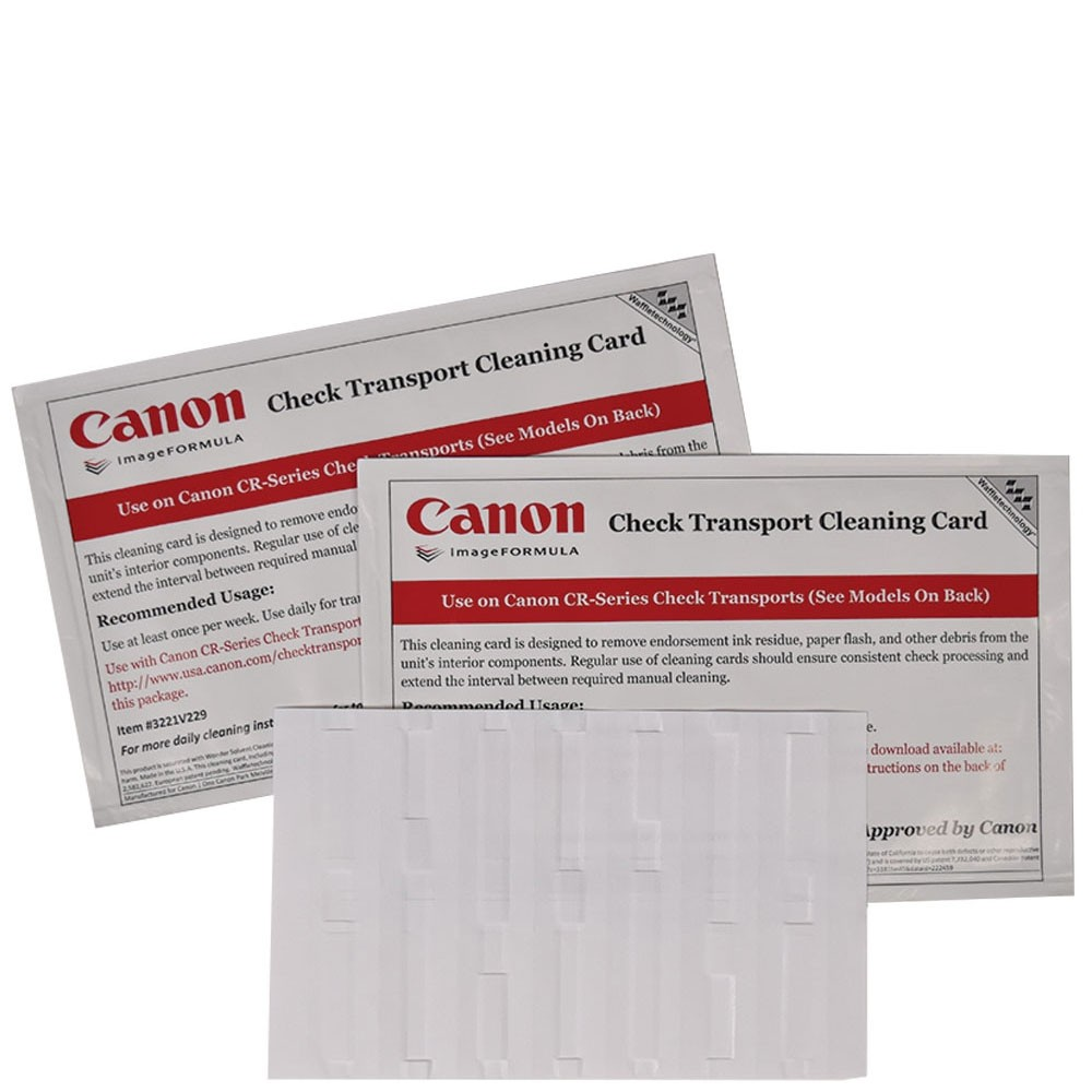 Canon Check Transport Cleaning Card with Waffletechnology®