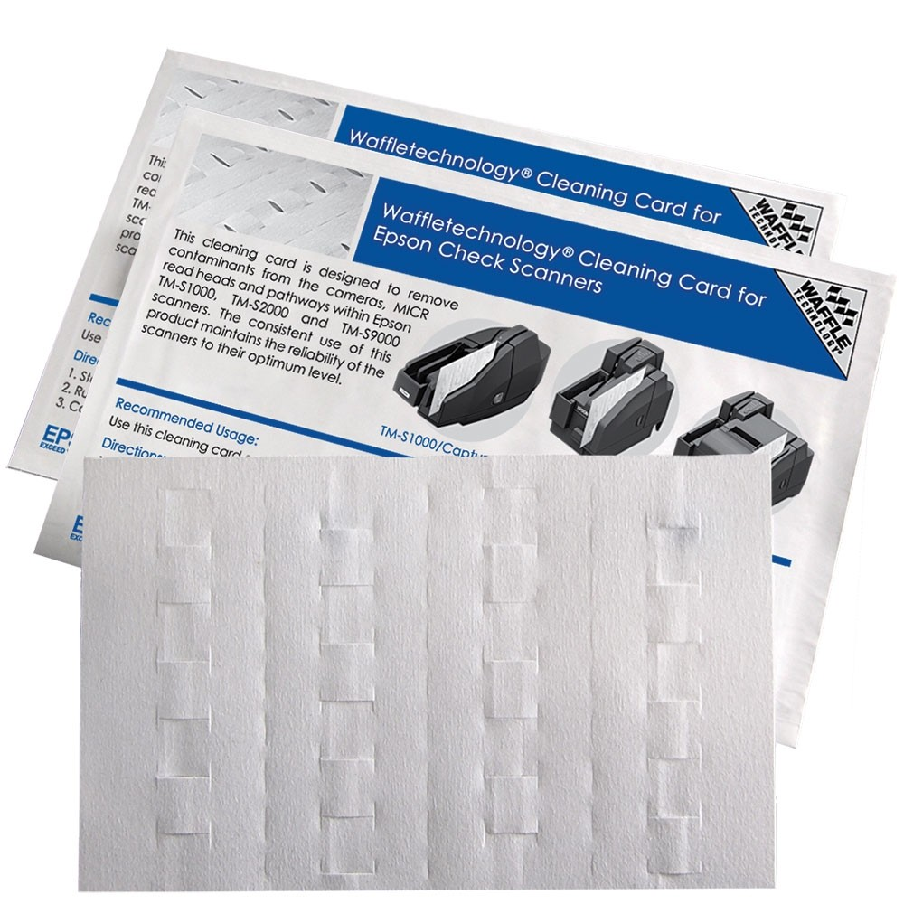 Epson Check Scanner Cleaning Card with Waffletechnology®