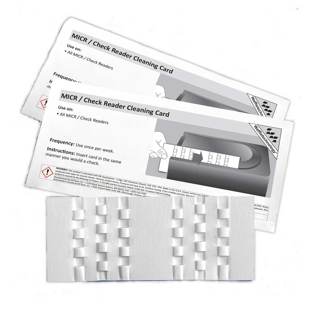 MICR/Check Reader Cleaning Card with Waffletechnology®