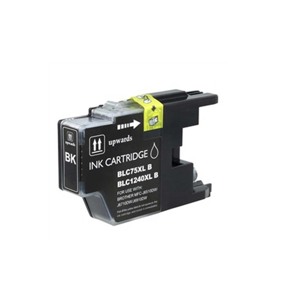 Brother Ink Cartridge - Black - Compatible - OEM LC75BK