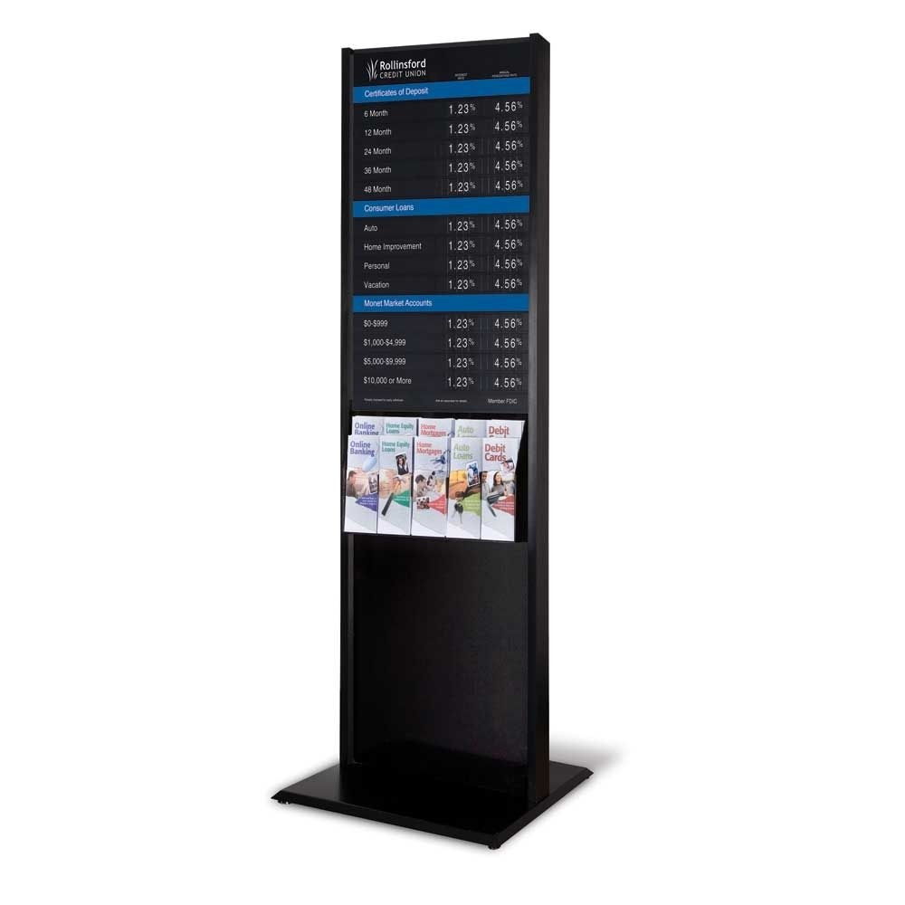 Contemporary Floor Display with 22W x 36H Rate Display