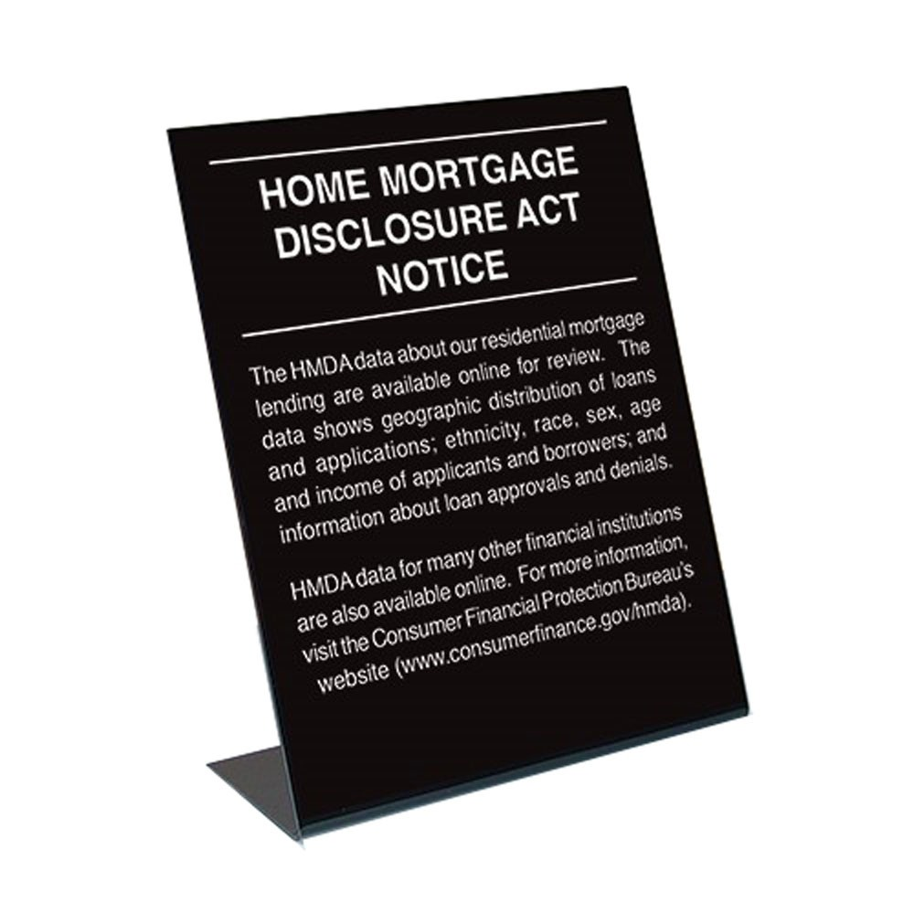 2018 Home Mortgage Disclosure Sign - 11x14