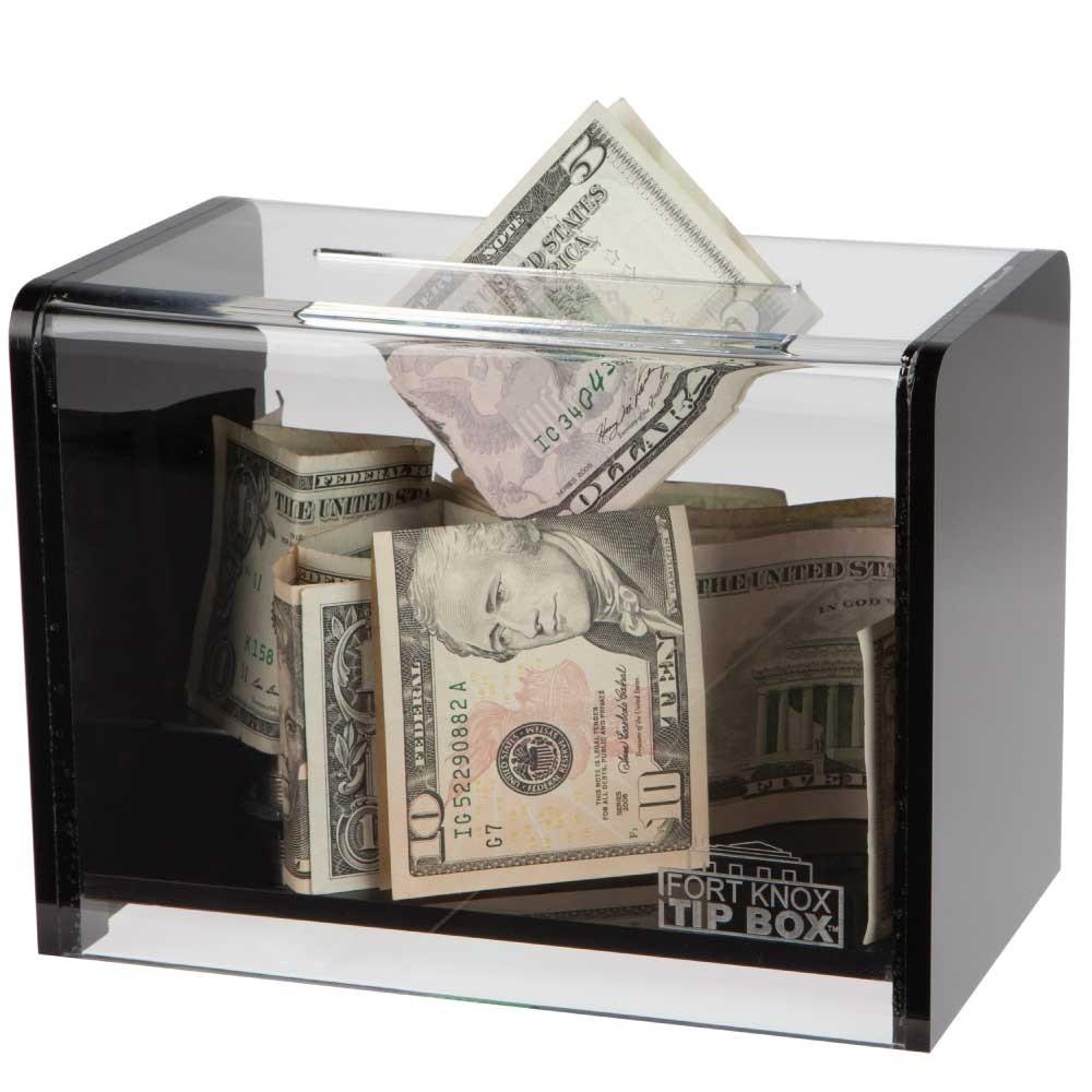 Clear Countertop Tip Box - 7-3/4W x 5-5/8H x 4-1/4D