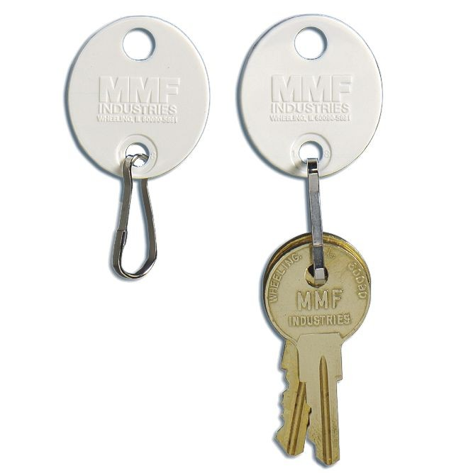 Snap-Hook White Oval Key Tags - 20/pk
