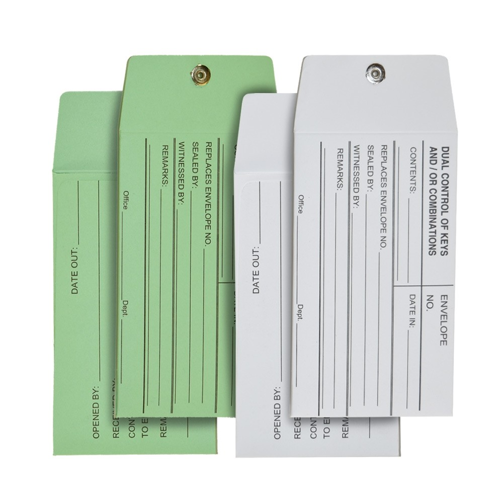 Dual Control Vault Key Envelope - No Imprint