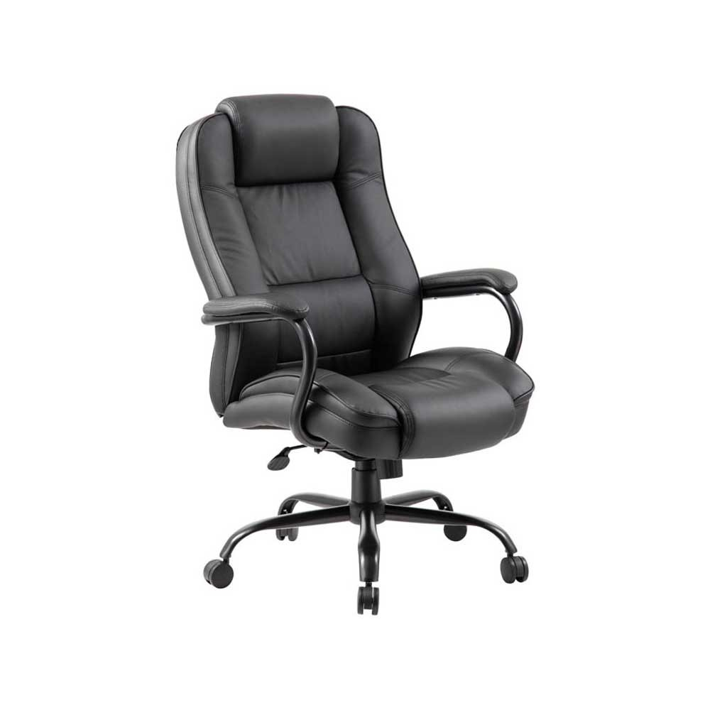 Heavy Duty Black Leather Executive Chair